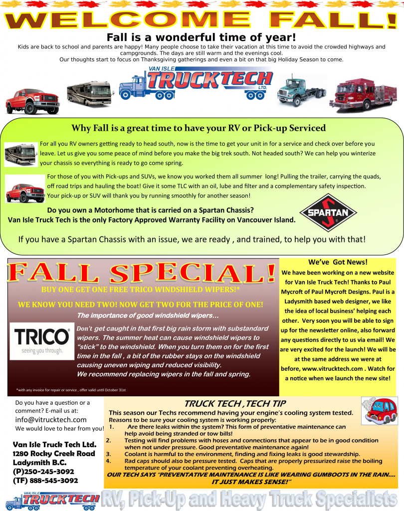 Print Add For FAll 2012 Newsletter